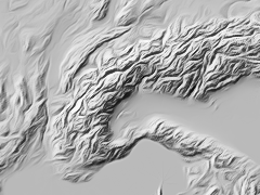 shaded relief illustration