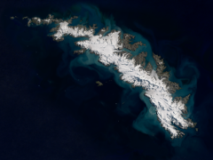 Sentinel-2 mosaic of South Georgia