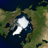 The Arctic with normal sea ice depiction