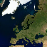 Europe in conic projection
