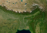 The Ganges delta and the eastern Himalayas