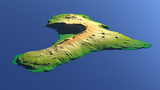 El Hierro with altitude color gradient