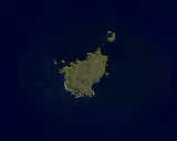 Landsat mosaic of the Antipodes Islands