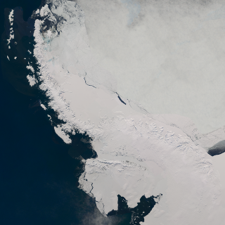 Landsat mosaic of the Antarctic peninsula