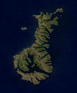 Sentinel-2 mosaic of the Auckland Islands