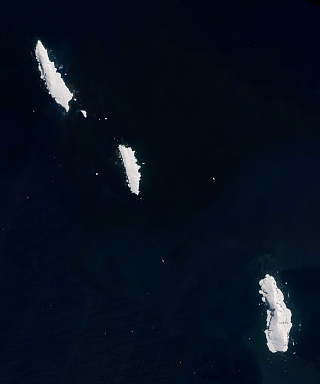 Sentinel-2 mosaic of the Balleny Islands