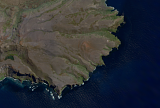 Landsat/Sentinel-2 mosaic of the Crozet Islands sample: Base Alfred-Faure, Possession Island