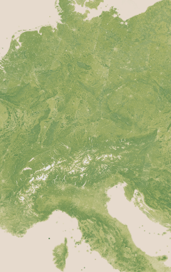 Vegetation map of Germany and the Alps