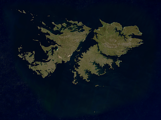 Sentinel-2 mosaic of the Falkland Islands