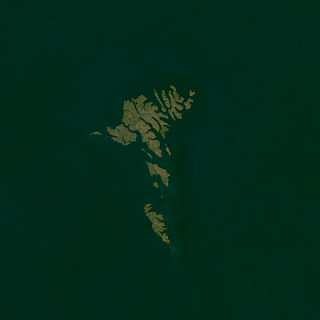 Landsat mosaic of the Faroe Islands