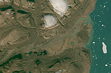 Greenland mosaic sample: Rivers at the coast in Hagen Fjord