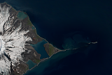 Landsat/Sentinel-2 mosaic of Heard Island and the McDonald Islands sample: The Spit