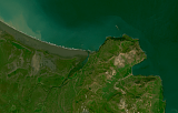 Landsat mosaic of Iceland sample: northeast coast