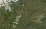 Landsat mosaic of Iceland sample: central plateau