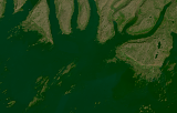 Landsat mosaic of Iceland sample: skerries at the west coast