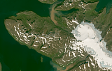 Landsat mosaic of Iceland sample: the northwest