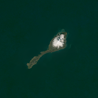 Sentinel-2 mosaic of Jan Mayen
