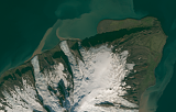Sentinel-2 mosaic of Jan Mayen sample: north end