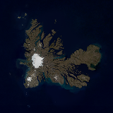 Landsat/Sentinel-2 mosaic of the Kerguelen Islands