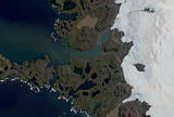 Sentinel-2 mosaic of the Kerguelen Islands sample: Western side Cook ice cap