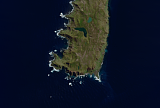 Sentinel-2 mosaic of Macquarie Island sample: South End Macquarie Island