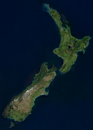 Sentinel-2 mosaic of New Zealand