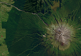 Sentinel-2 mosaic of New Zealand sample: Mount Taranaki