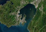 Sentinel-2 mosaic of New Zealand Beispielausschnitt: Wellington