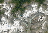 Sentinel-2 mosaic of New Zealand sample: Southern Alps