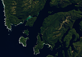 Sentinel-2 mosaic of New Zealand Beispielausschnitt: The far southwest