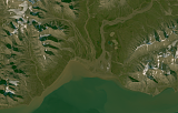 Sentinel-2 mosaic of Svalbard sample: Van Mijenfjorden north coast