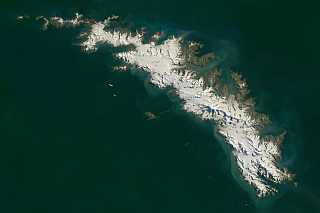 Landsat mosaic of South Georgia