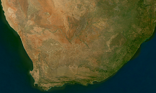 Sentinel-2 mosaic of southern Africa