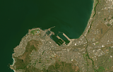 Sentinel-2 mosaic of southern Africa sample: Capetown