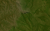 Sentinel-2 mosaic of southern Africa sample: Giants Castle, Drakensberg