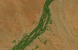 Sentinel-2 mosaic of southern Africa sample: Orange River near Upington