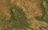 Sentinel-2 mosaic of southern Africa sample: Mountains south of Vanrhynsdorp