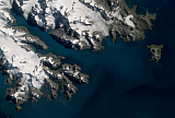 Sentinel-2 mosaic of South Georgia sample: Southeast end