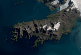 Sentinel-2 mosaic of South Georgia sample: South Coast in the Northwest