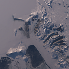 Landsat mosaic of the McMurdo dry valleys