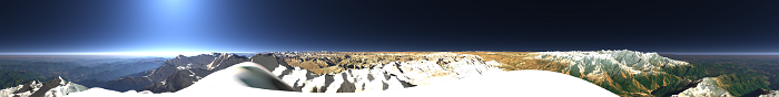 360 degree panorama from a himalaya peak