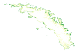 South Georgia vegetation map