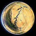 Fisheye-Ansicht des Grand Canyon