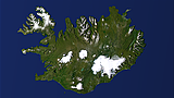 Iceland from straight above
