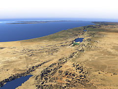The Jordan Valley from the Gulf of Aqaba