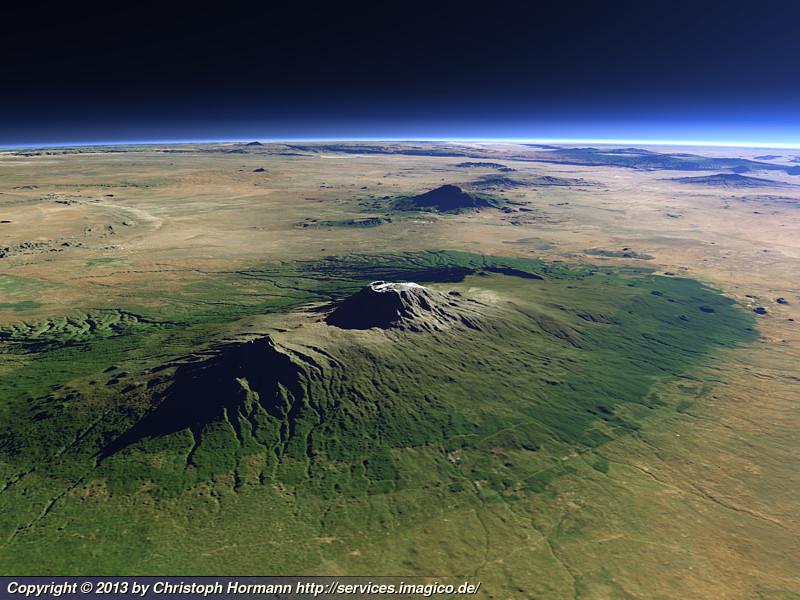 Mount Kilimanjaro Imagico De Geovisualizations