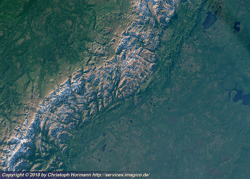 Summer evening view of the northern Ural mountains - Imagico ...