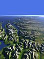 Die norwegische Küste östlich von Tromsø