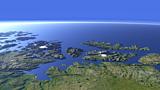 Die norwegische Küste südlich von Hammerfest