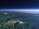 Die Kaskadenkette im Nordwesten der Vereinigten Staaten